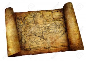 5127556-ancient-map-scroll-Stock-Photo-map-pirate-parchment