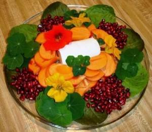 Nasturtium-plate-decorations