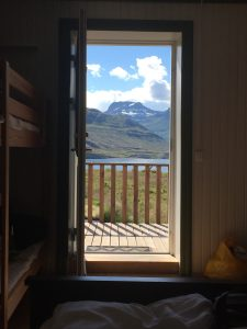 View from our room at Skalanes Mountainlodge