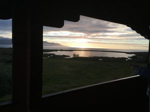 View from the cottages in Husavik